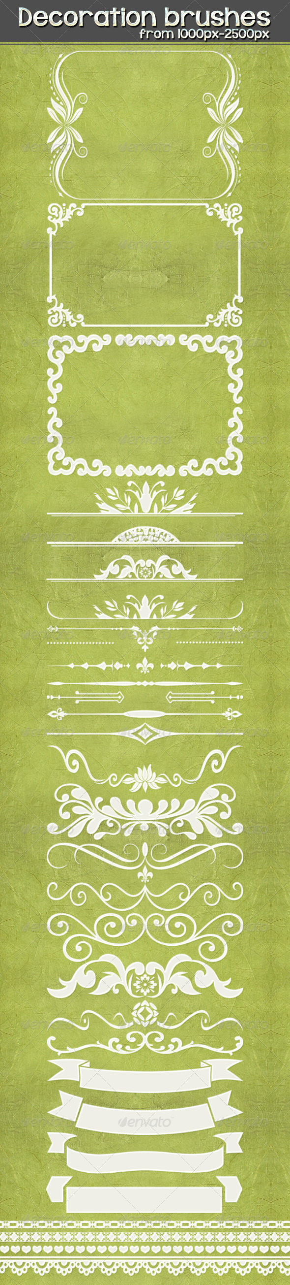 GraphicRiver Decoration Brushes 3695665