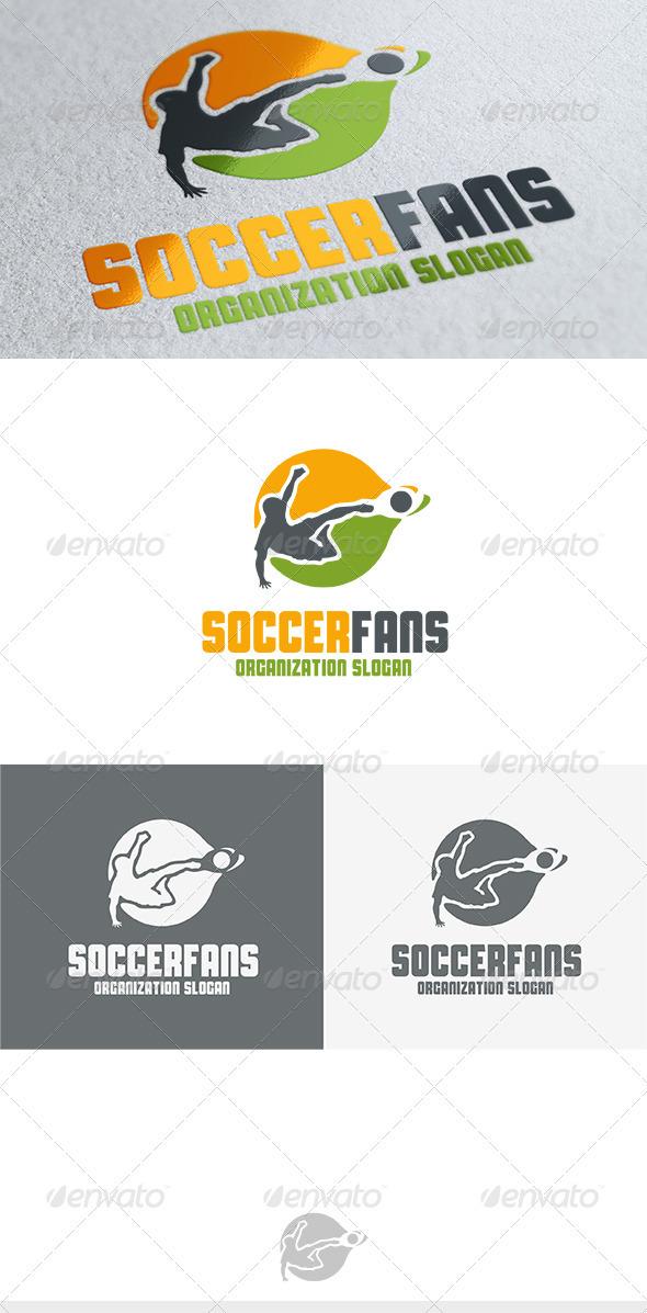 GraphicRiver Soccer Fans Logo 3696117