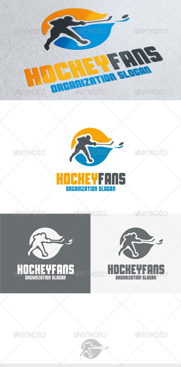 Hockey Fans Logo - Humans Logo Templates