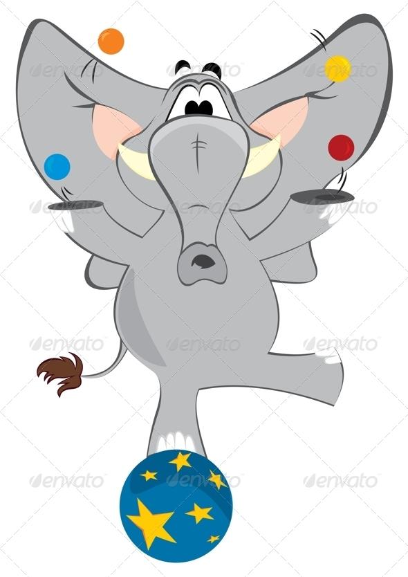 GraphicRiver Elephant Juggler 3696815