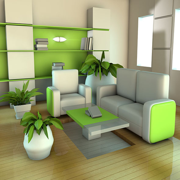3DOcean Green Room 3696820