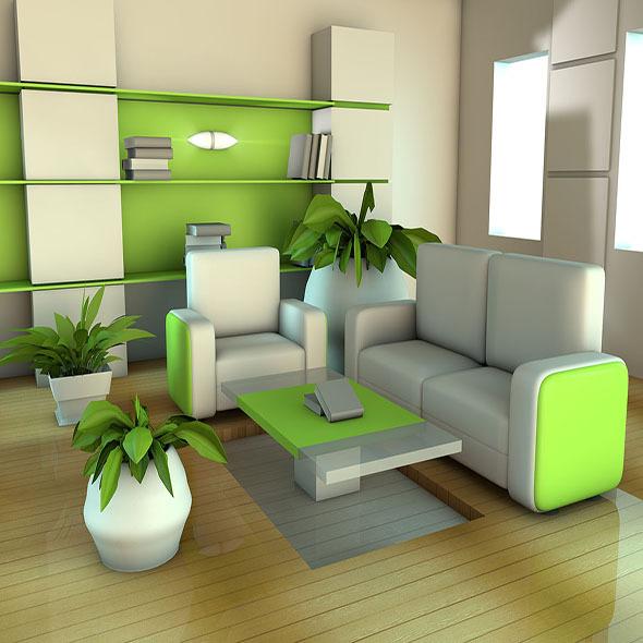 Green Room - 3DOcean Item for Sale