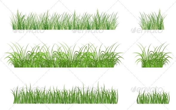 GraphicRiver Green Grass Patterns 3697150