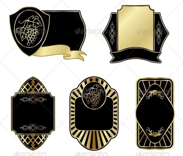 GraphicRiver Set of Vintage Labels 3697177
