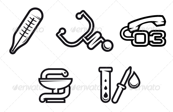 GraphicRiver Medicine Symbols 3697193