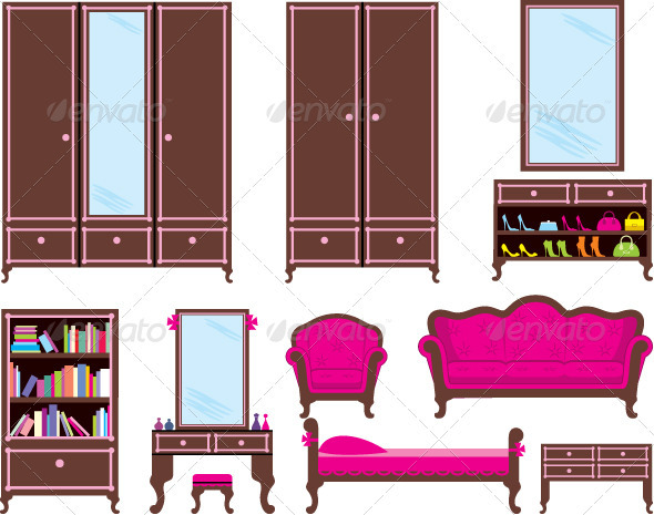 GraphicRiver Set of Furniture 3697206