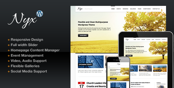 ThemeForest Nyx Responsive Church Wordpress Theme 3201232