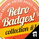 4 Vintage Badges - GraphicRiver Item for Sale