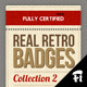 4 Vintage Badges - Collection 2 - GraphicRiver Item for Sale