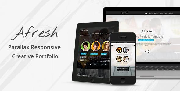 ThemeForest Afresh Parallax Responsive Creative Portfolio 3643518