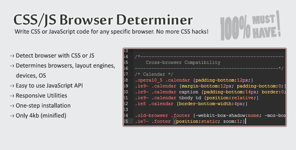 CodeCanyon CSS JS Browser Determiner 3697846