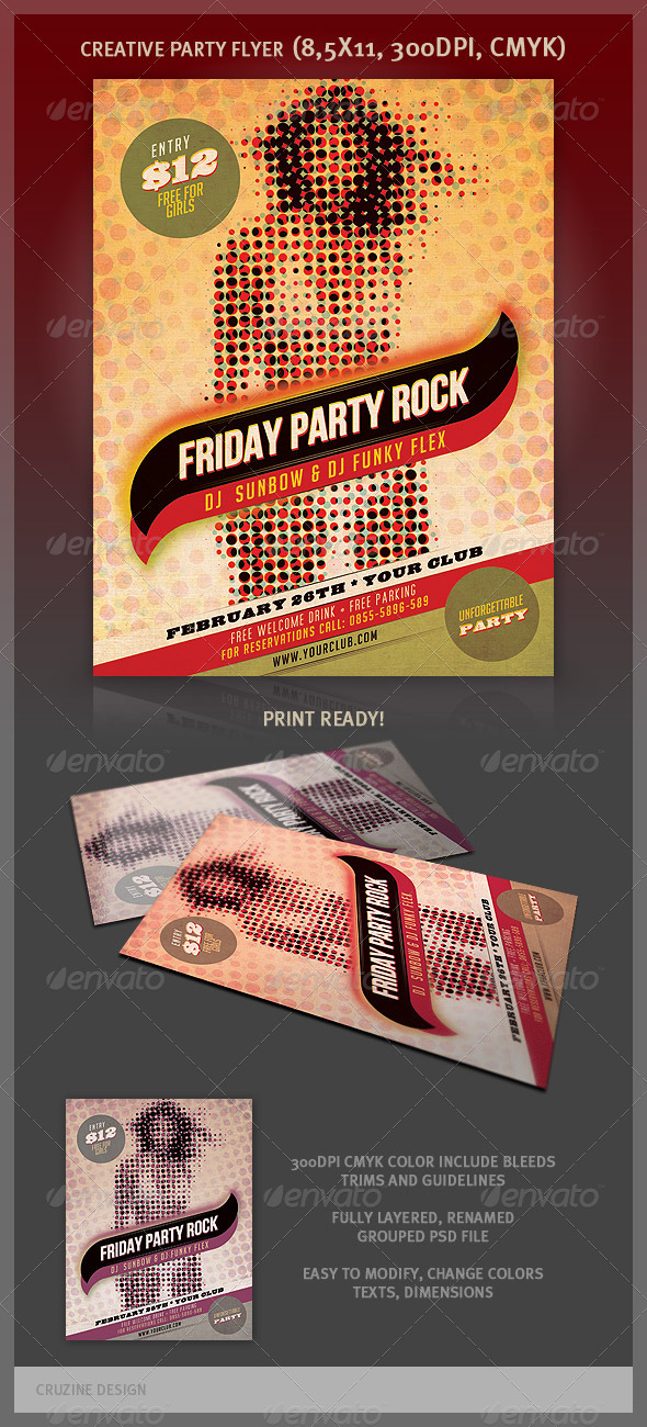 Creative Party Flyer Template - Clubs & Parties Events