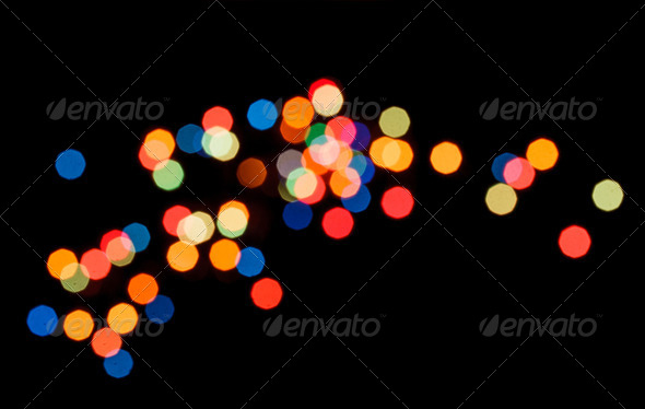 Christmas lights - Stock Photo - Images