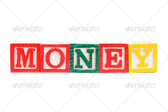 "Word ""money"" - Stock Photo - Images"