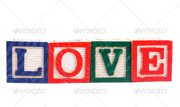 "Word ""love"" - Stock Photo - Images"