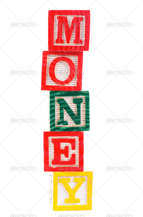 "Word ""money"" - Stock Photo - Images"
