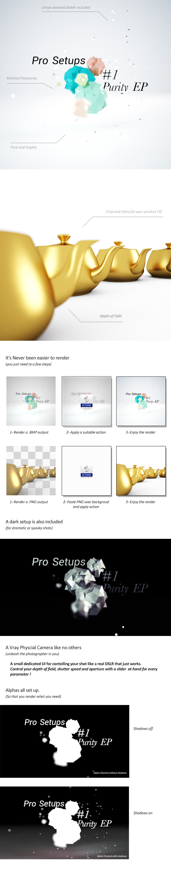 Purity EP - Vray Render Setup - 3DOcean Item for Sale