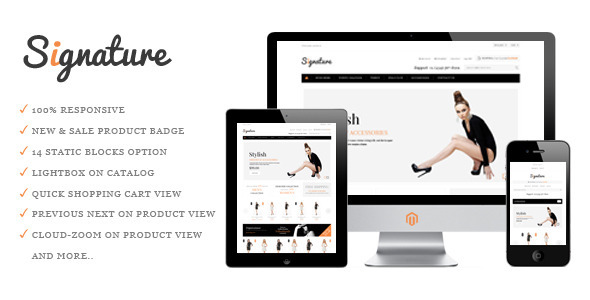 ThemeForest Signature Responsive Magento Theme 3700032