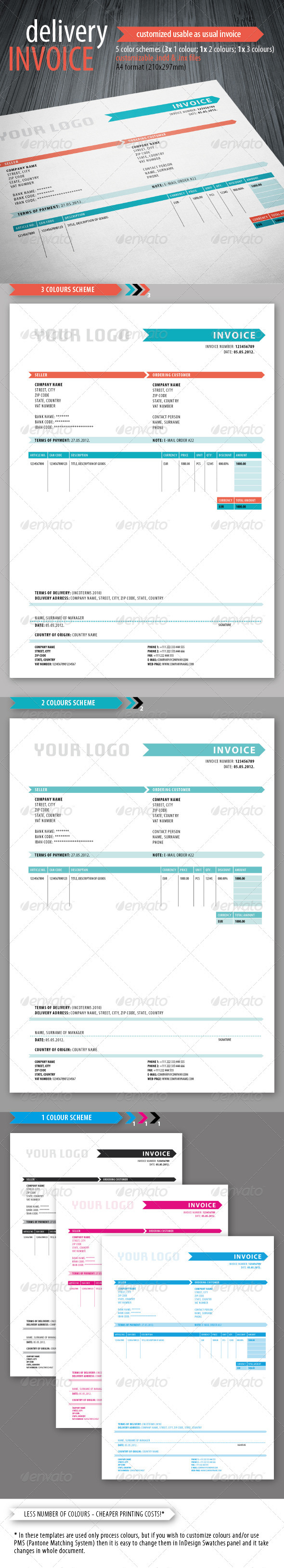 GraphicRiver Delivery Invoice Template 3301495