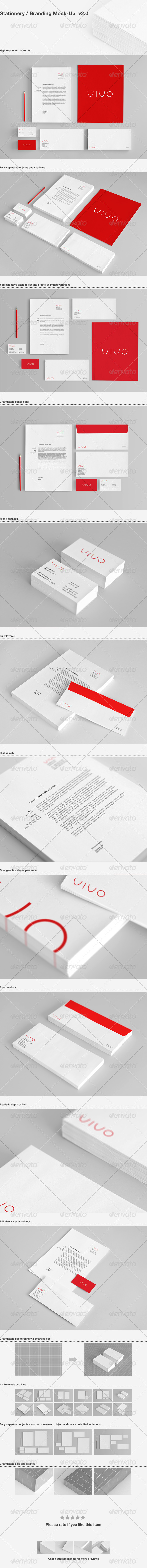 Stationery / Branding Mock-Up - Stationery Print