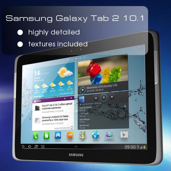 3DOcean Samsung Galaxy Tab 2 10.1 P5100 3700387