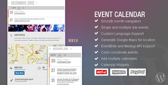 CodeCanyon AJDE Event Calendar WP Plugin 1211017