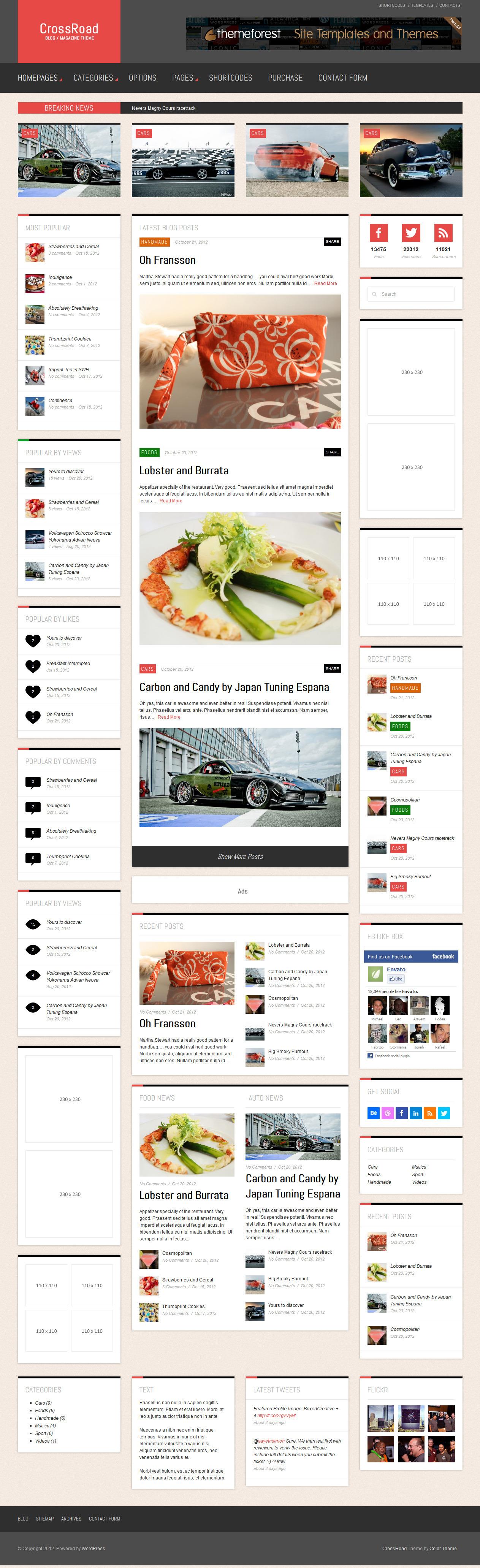 CrossRoad - Responsive WordPress Magazine / Blog - Home Page