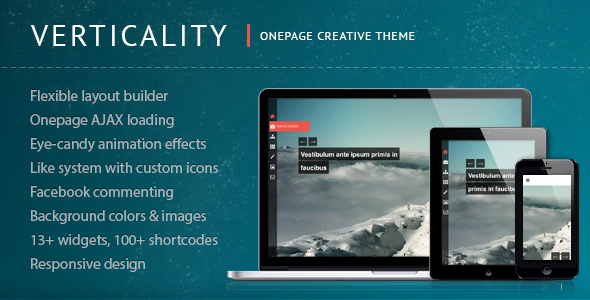 ThemeForest Verticality Onepage Photography Theme 3700714