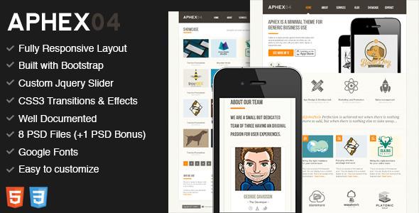 Aphex04 - Premium HTML5 / CSS3 Template
