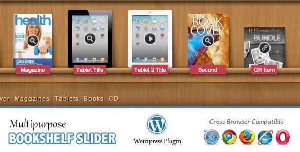 CodeCanyon Multipurpose Bookshelf Slider Wordpress Plugin 2228996