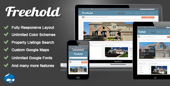 ThemeForest Freehold Drupal 7 Real Estate Theme 3700937