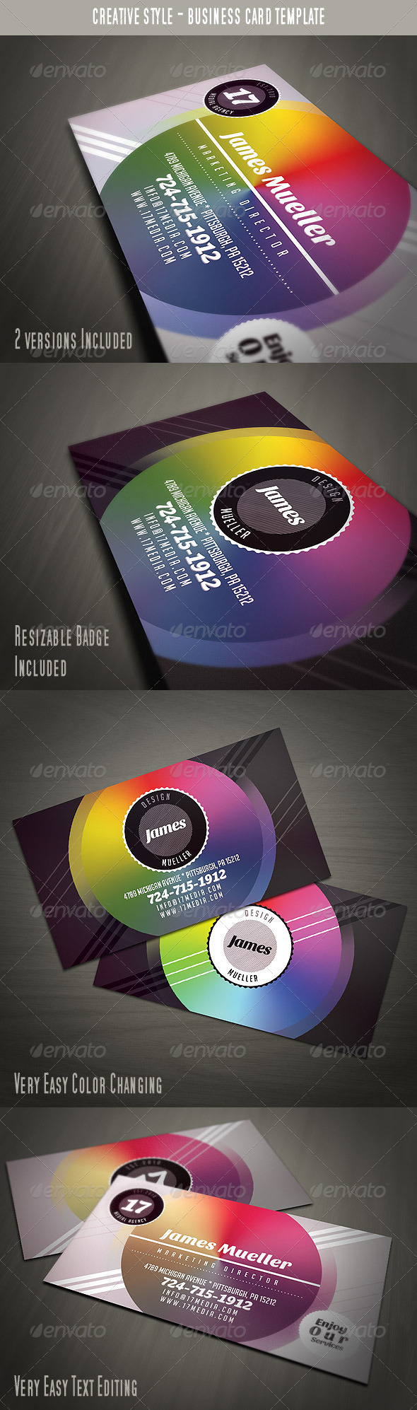 GraphicRiver Creative Style Business Card 3701252