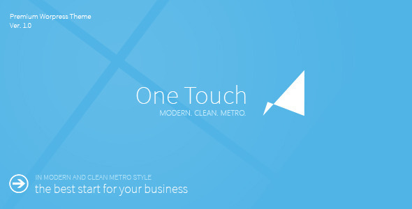 ThemeForest One Touch Multifunctional Metro Stylish Theme 3680565