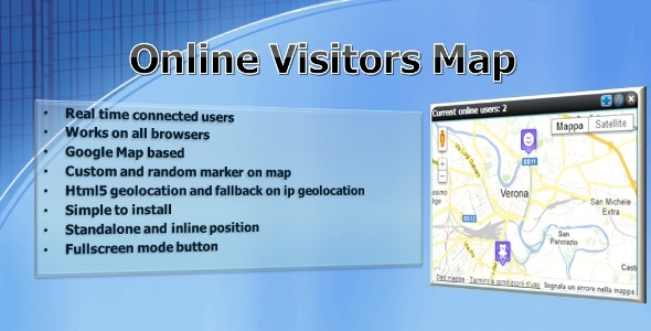 CodeCanyon Online Visitors Map 3701299