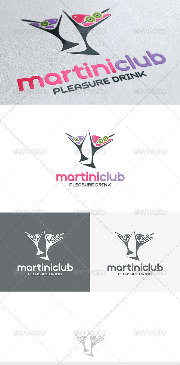 GraphicRiver Martini Club Logo 3701436