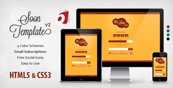 ThemeForest Gila Responsive Coming Soon Template 3298319