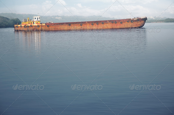 Old barge - Stock Photo - Images