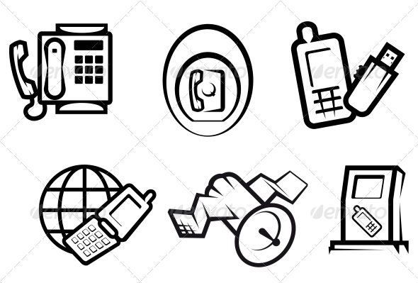 GraphicRiver Communication and Internet Symbols 3701783