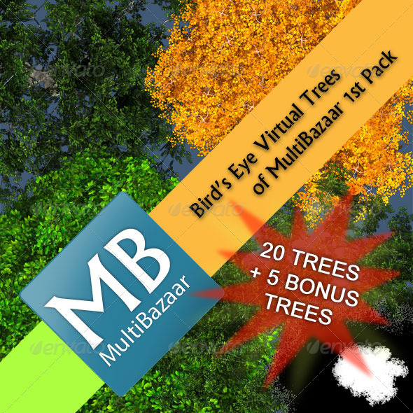 3DOcean Multibazaar Bird s Eye Virtual Trees 1st Pack 3702037
