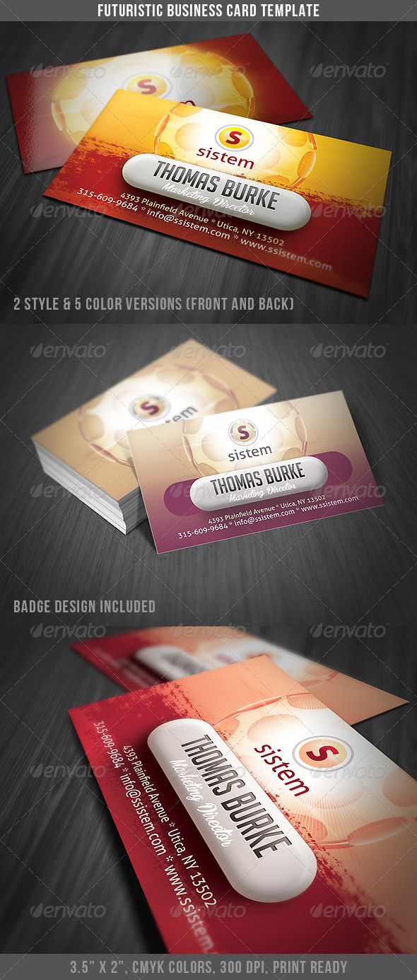 Futuristic & Modern Business Card - Creative Business Cards