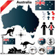Australia Map and Elements - GraphicRiver Item for Sale