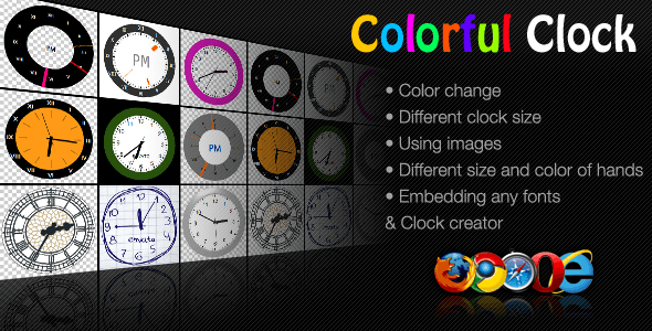 CodeCanyon Colorful Clock 3404777