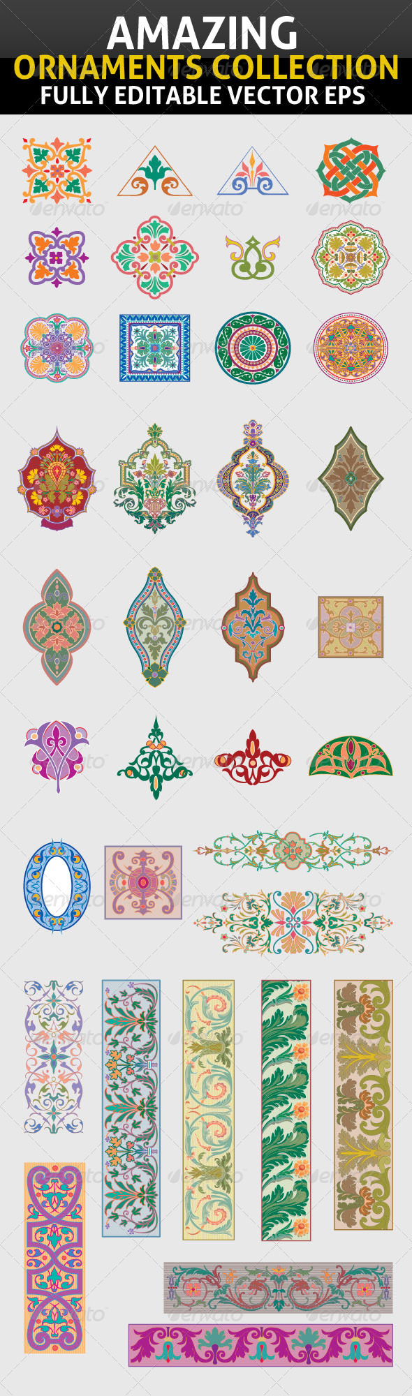 GraphicRiver Amazing Ornaments Collection 3703087