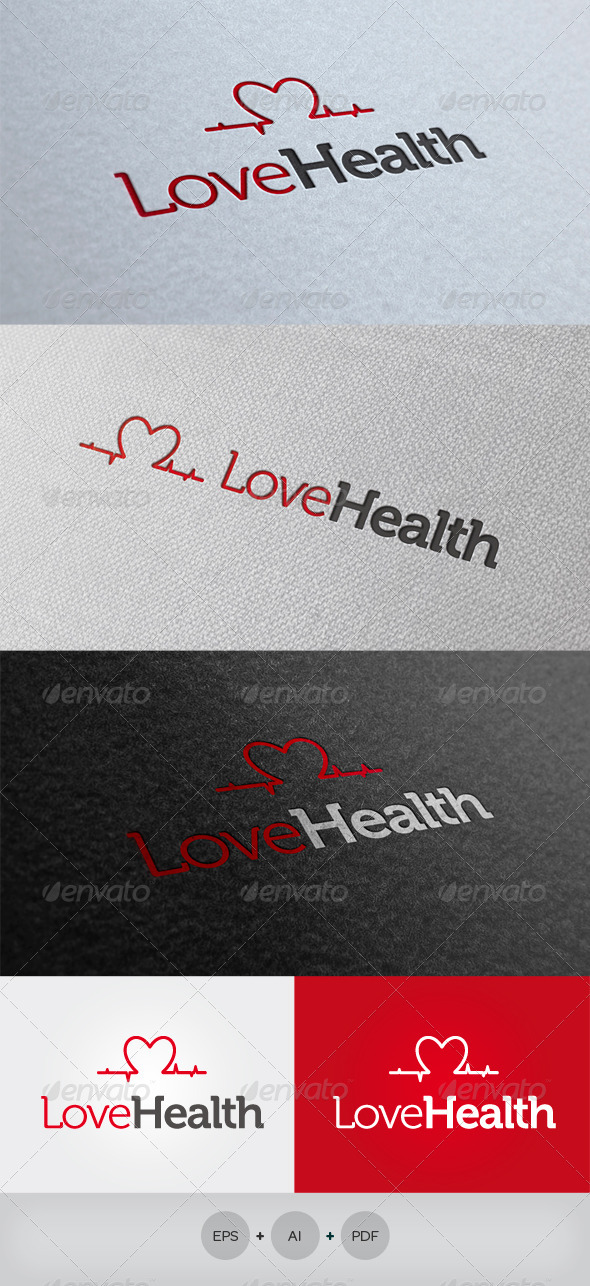 Love Health Logo - Symbols Logo Templates