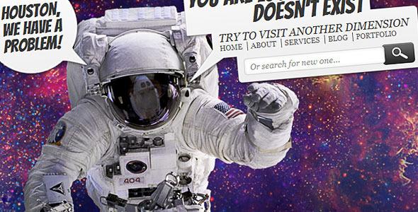 ThemeForest Lost in Space Error 404 398403