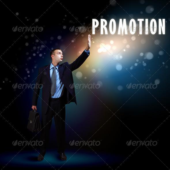 PhotoDune Businessman with light shining 3704207