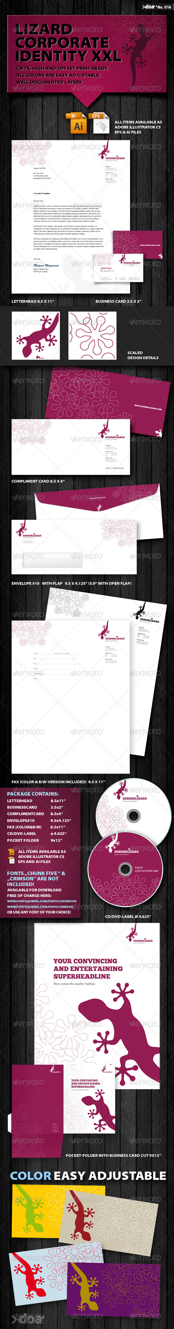 Graphic River Design Lizard Corporate Identity XXL Print Templates -  Stationery 398445