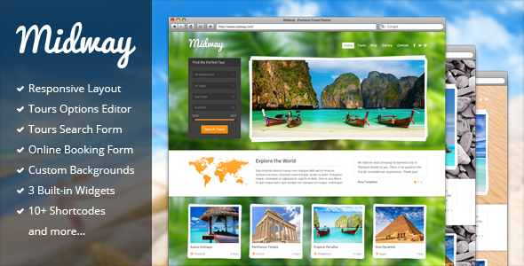 ThemeForest Midway Responsive Travel WP Theme 3559006