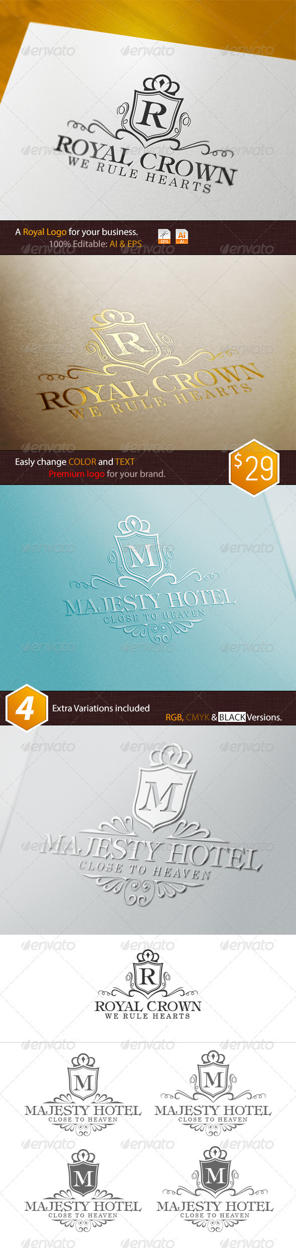 GraphicRiver Royal Crown Logo 3650141