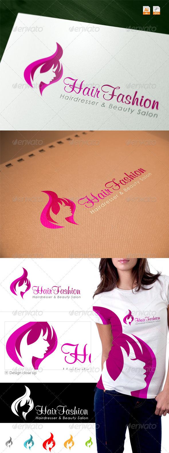GraphicRiver Hair Fashion Spa & Salon Logo 3657194